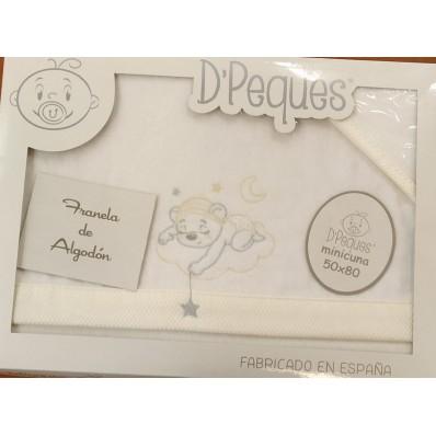 triptico minicuna oso durmiendo franela de D'Peques