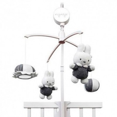 Carrusel musical Miffy Gris