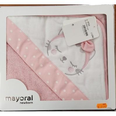 Toalla gata rosa blanca de Mayoral