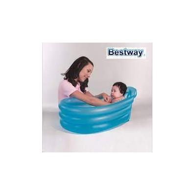 Bañera bebe azul Bestway 79 cm x 51 cm x 33 cm