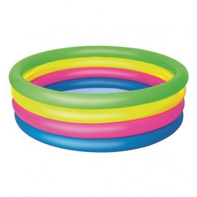 Piscina colorida hinchable 4 anillos Summer Waves 150 cm x 40 cm