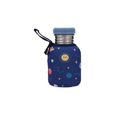 Botella Acero con Funda Arcoiris Mostaza 350ml de Tutete.