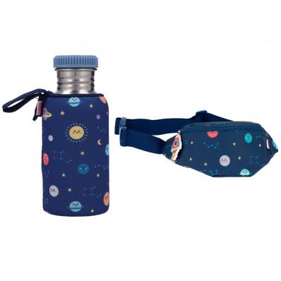 Pack Verano botella 500 ml con funda más riñonera del espacio  Tutete