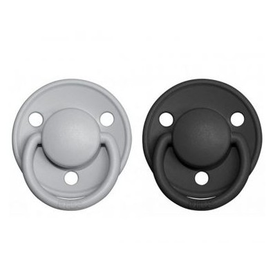PACK 2 CHUPETES BIBS DE LUX STONE/IRON 6-18 MESES