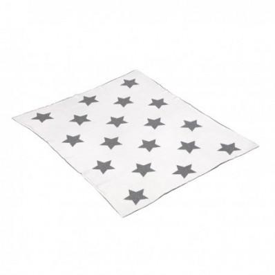 MANTA ALGODON BEBE 80X100X1 CM STAR GRIS CAMBRASS