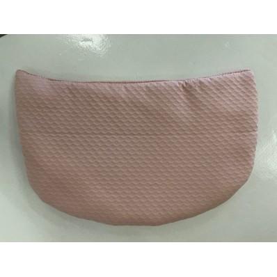 Saco base Gijón gris c/Patricia rosa empolvado de Brisa bebé