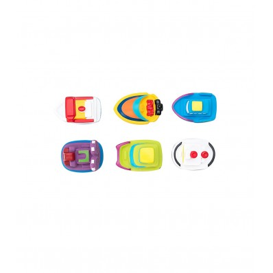 Bote 6 juguetes de baño barquitos Olmitos