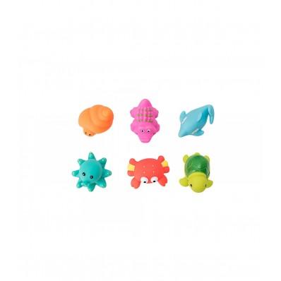 Bote 6 juguetes de baño animales Olmitos