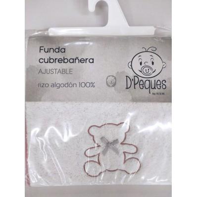 Funda Cubrebañera rizo tela Bordada D,Peques