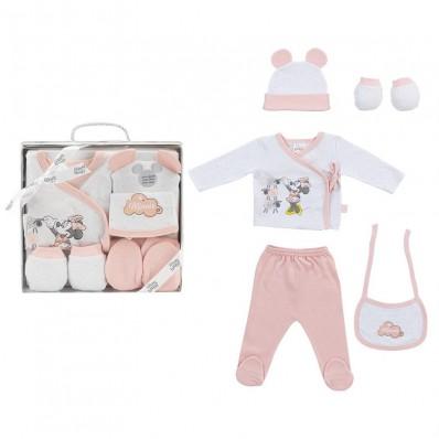 Set regalo 5 piezas Minnie rosa empolvado 1ª puesta Interbaby