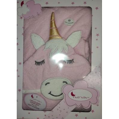 Capa de baño Unicornio Rosa