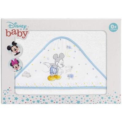 Capa de baño Mickey bco/azul Interbaby