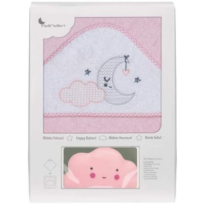 Capa de baño 1x2 luna rosa + luz compañia Interbaby