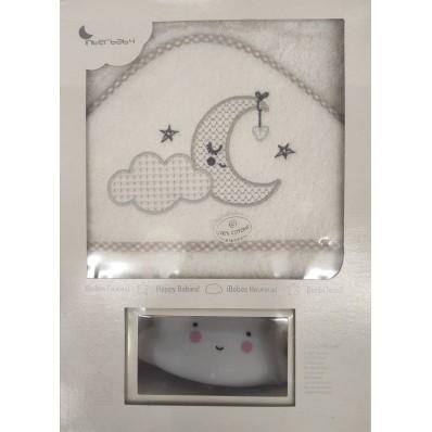 Capa de baño 1x1 luna blanca + luz compañia Interbaby