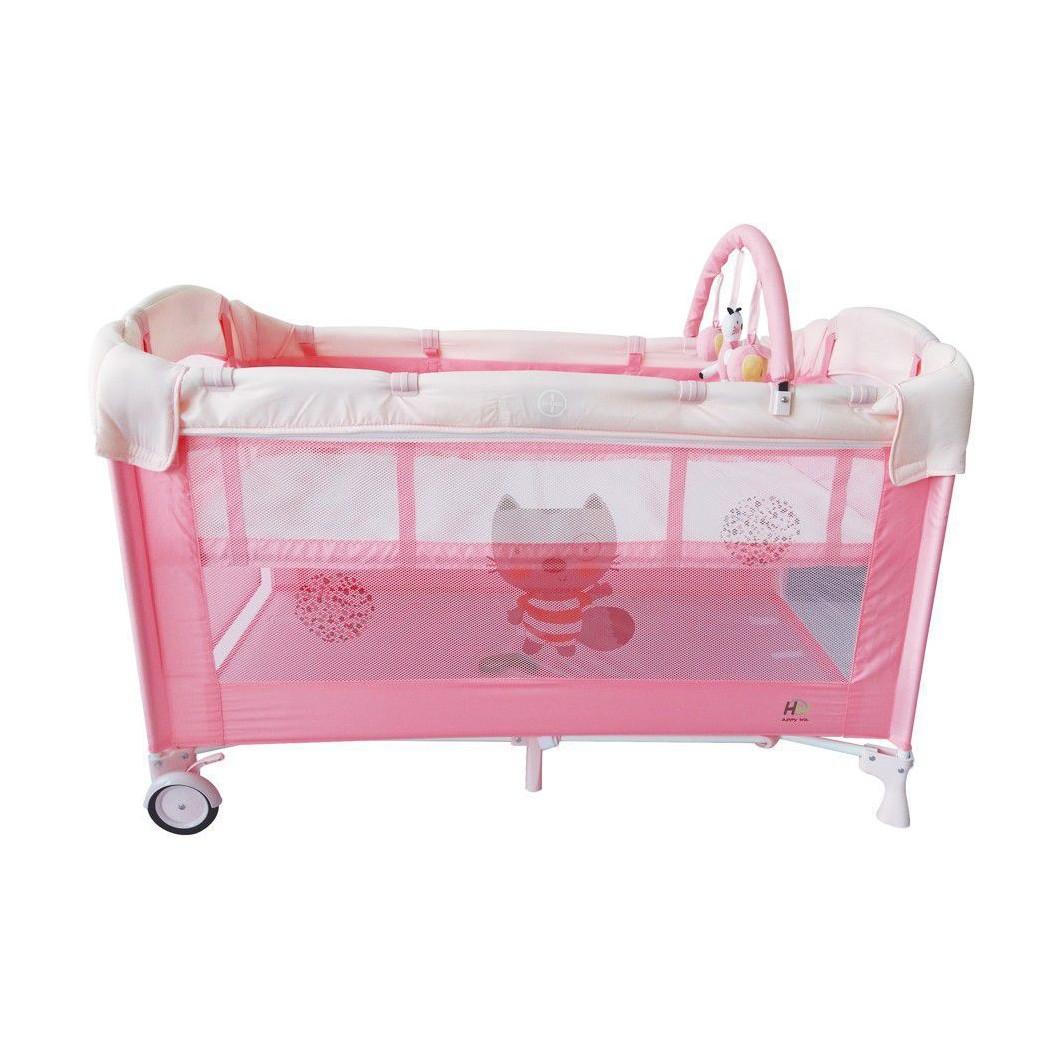Cuna de viaje HAPPY WAY Baby Rosa