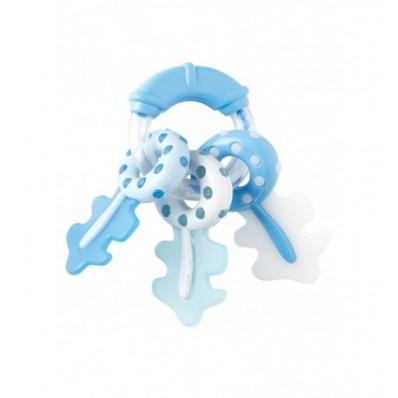 Sonajero llaves con mordedor azul de Saro