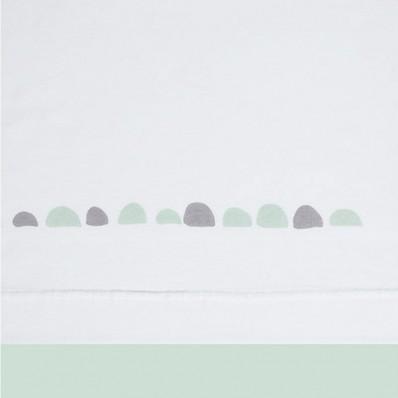Trípticode cuna roca verde blanco de Sonpetit