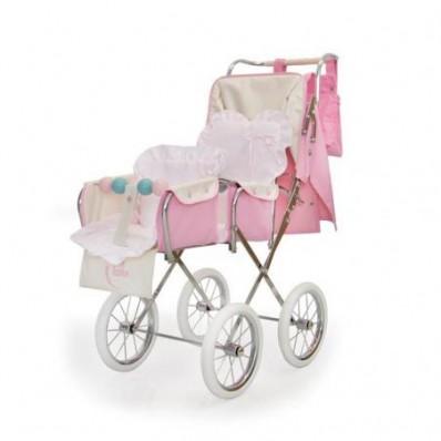 Silla de muñecas gemelar rosa de Bebelux